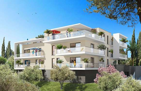 New 2-bedroom apartment on the hills of Cannes
